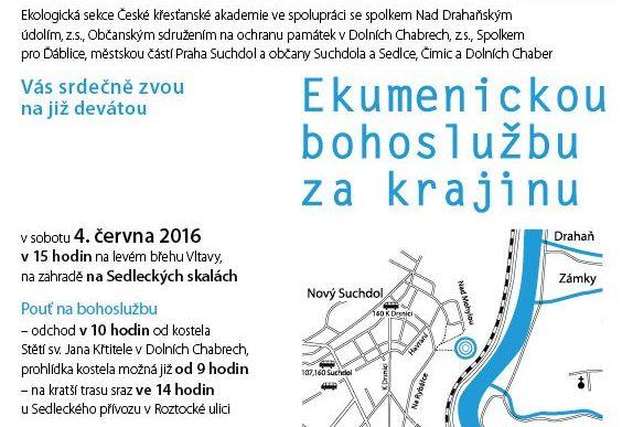 Ekumenická bohoslužba za krajinu 4.6.2016