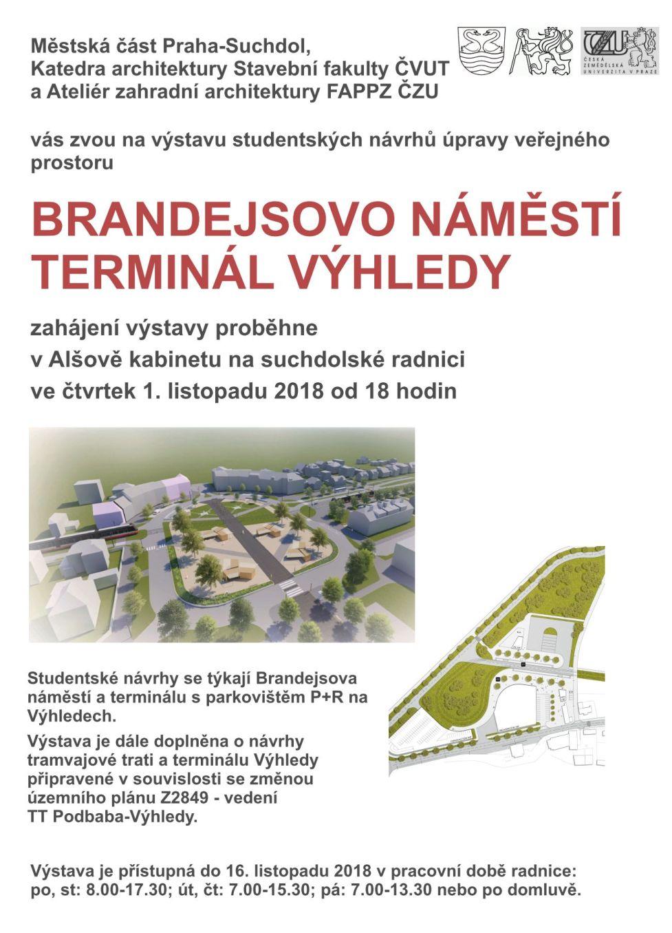 Výstava návrhů ČVUT a ČZU Brandejsovo náměstí 2018