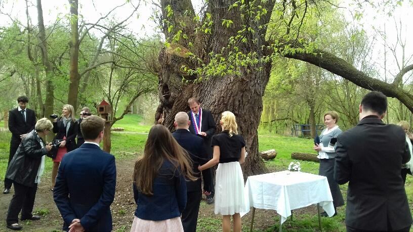 Svatební obřad u vrby Zapomenuté, 13.4.2017