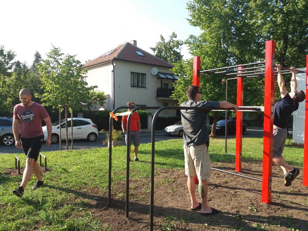 Otevření workout hřiště na Výhledském náměstí 19.7.2017