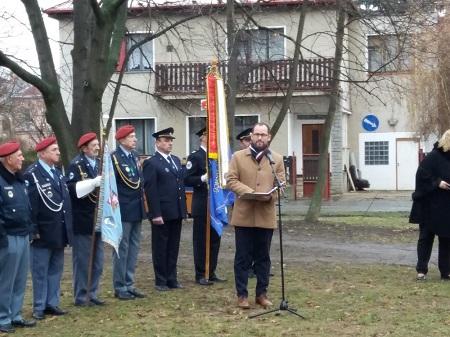 Pietní akt k 12. výročí úmrtí generálmajora Rudolfa Pernického, 21.12.2017