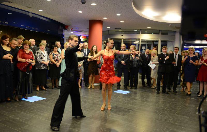 předtančení - taneční pár Klára a Michal