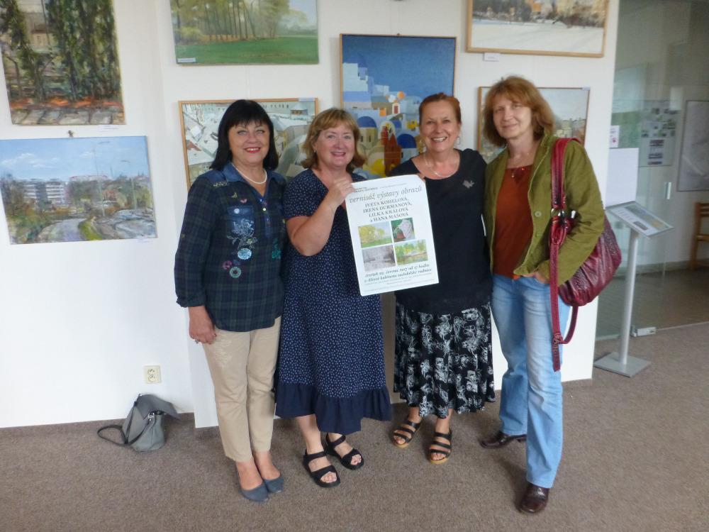 autorky společné výstavy olejomalby, 22.6.2017