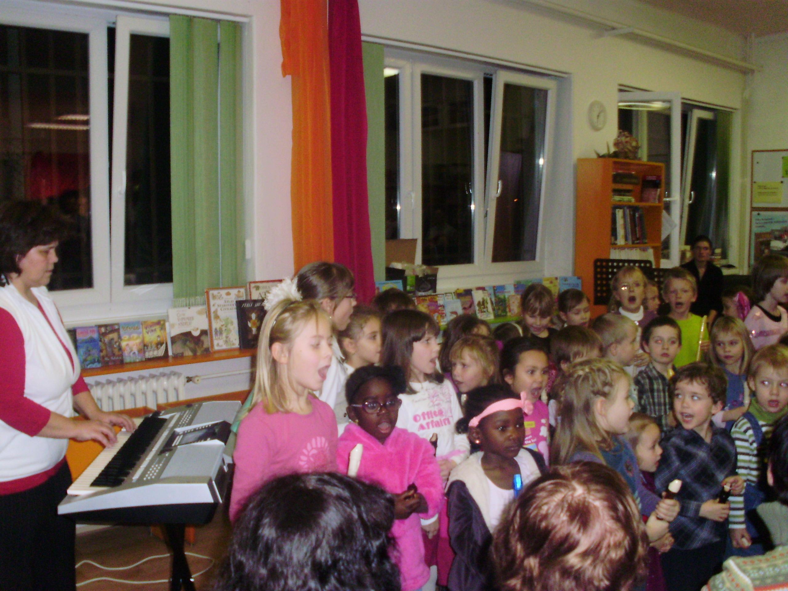 Zpívání v knihovně