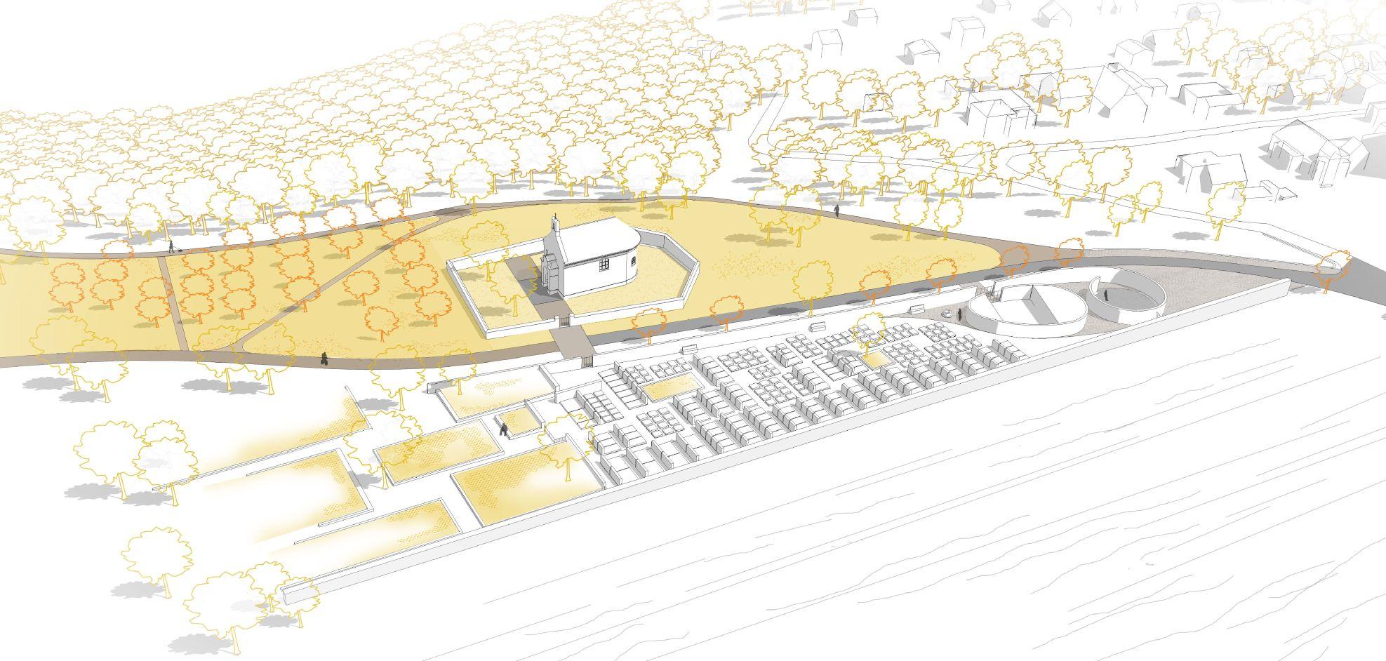 hřbitov-návrh 3 nadhled