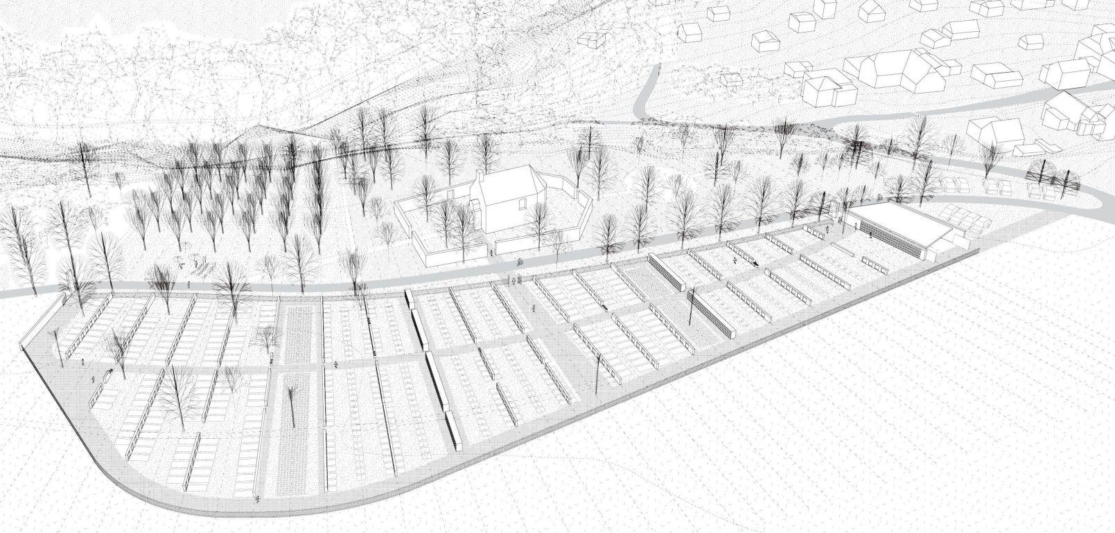 hřbitov-návrh 7 nadhled