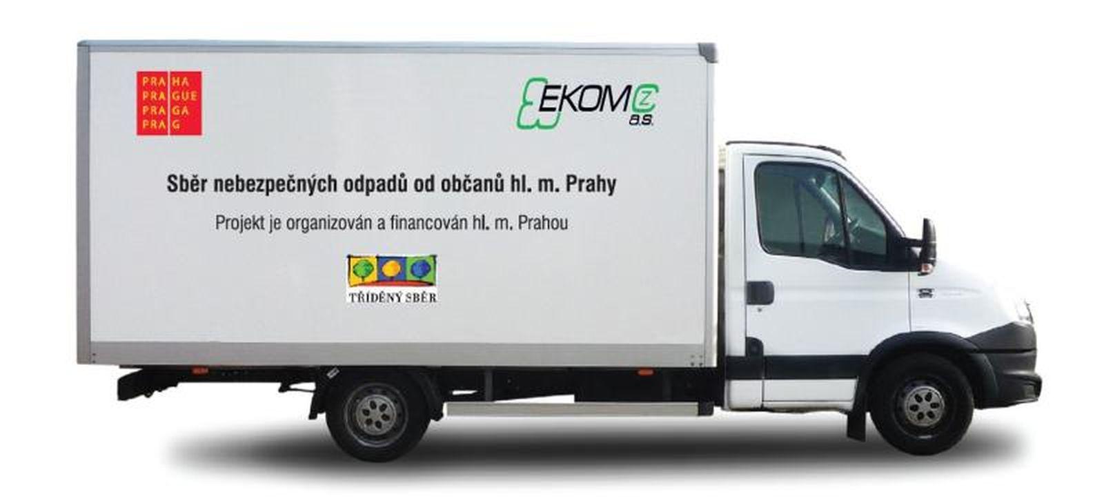 vozidlo mobilní sběr nebezpečného odpadu