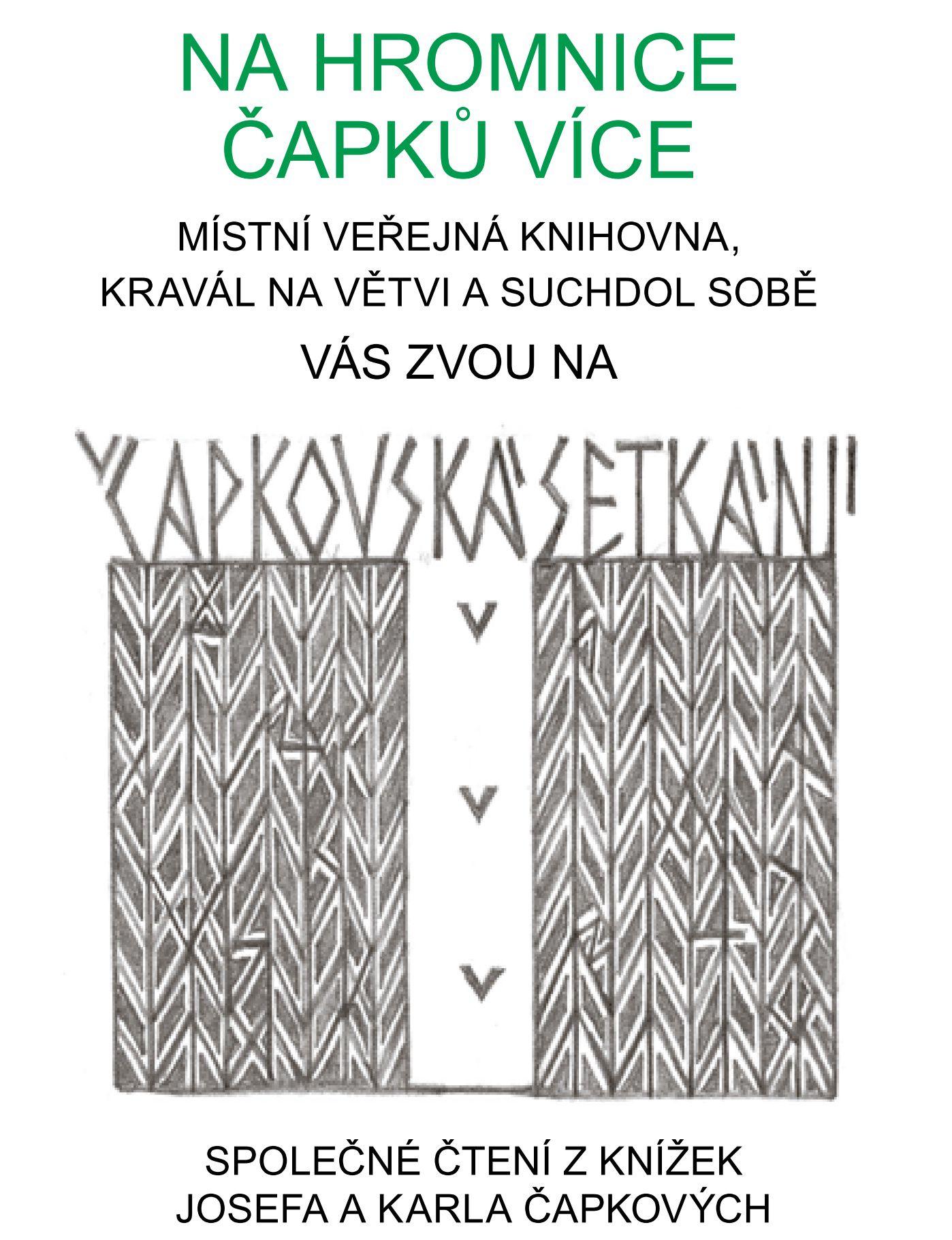 Čapkovské čtení, úterý 2.2. 2016 Kravál na větvi