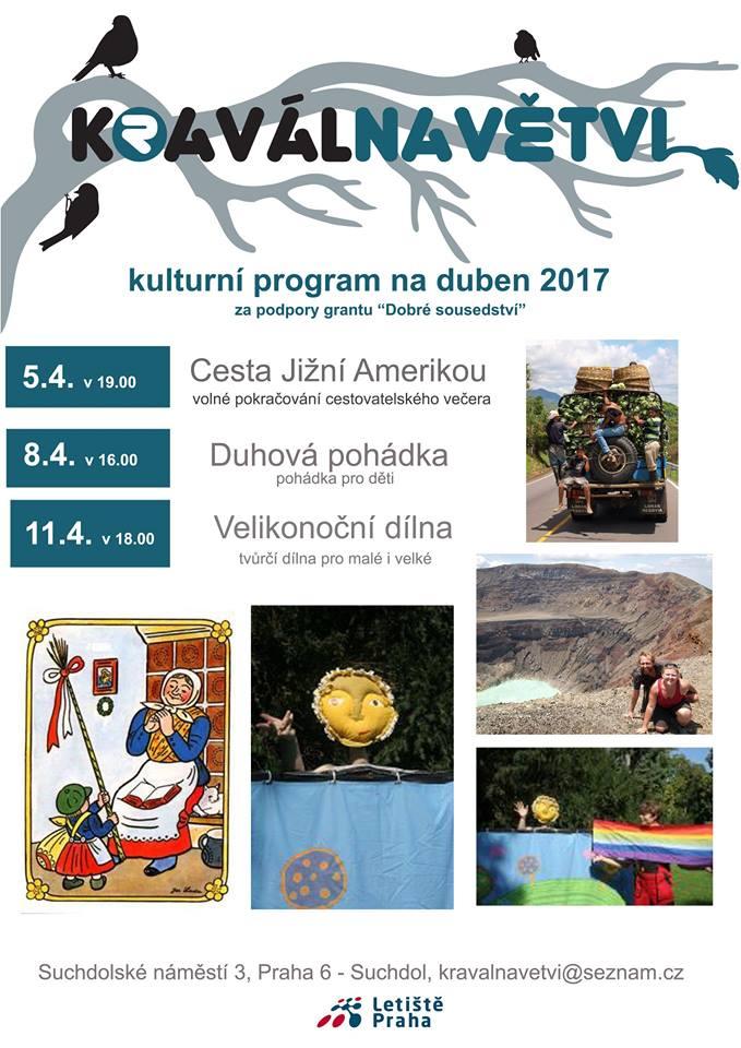 Kulturní program o.s. Kravál na duben