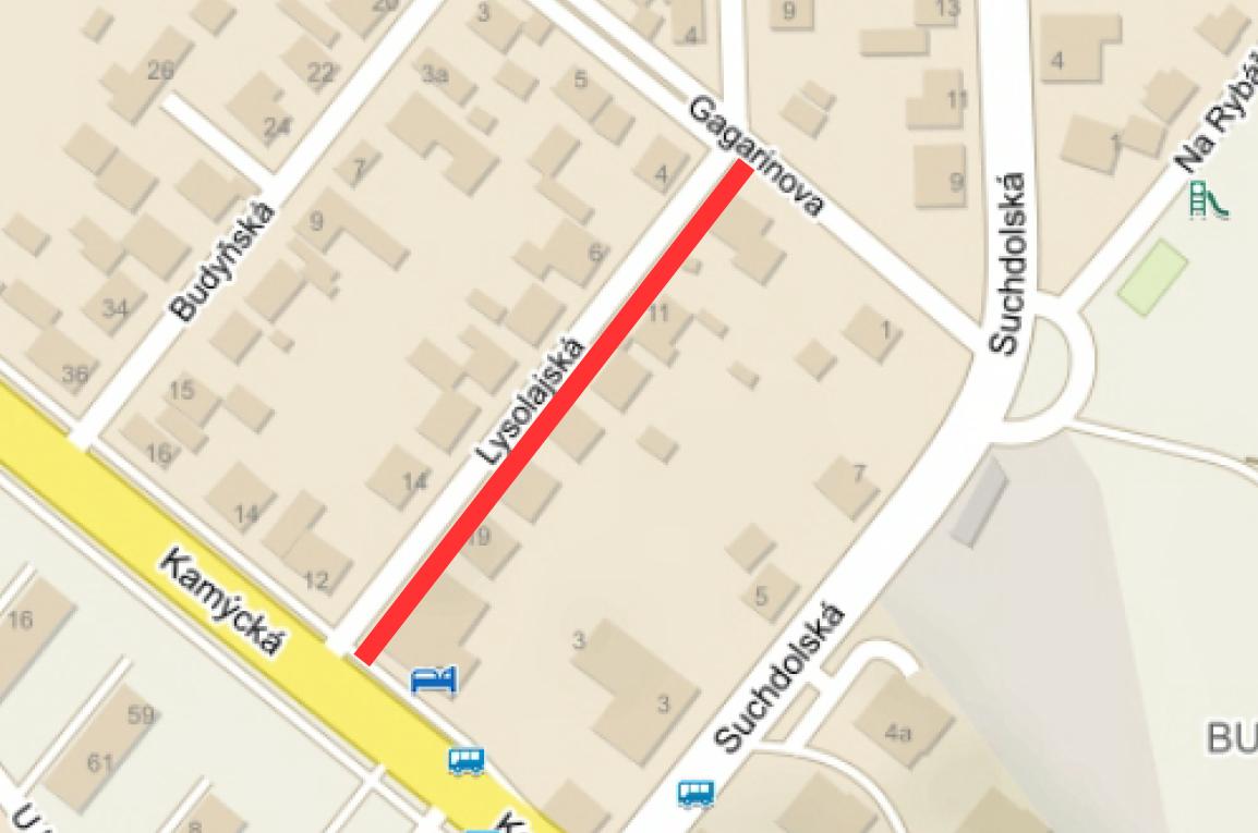 Rekonstrukce povrchů v části ulice Lysolajské