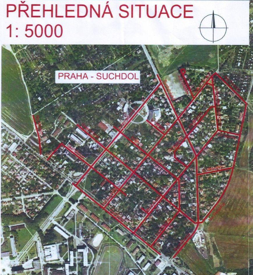 Přehledná situace - komunikace Budovec