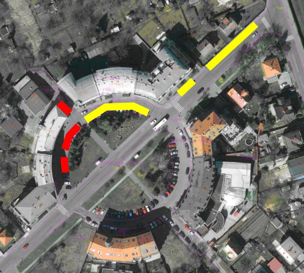 Suchdolské náměstí - parkování