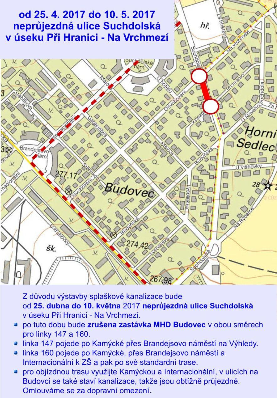 Neprůjezdná ulice Suchdolská - 05/17